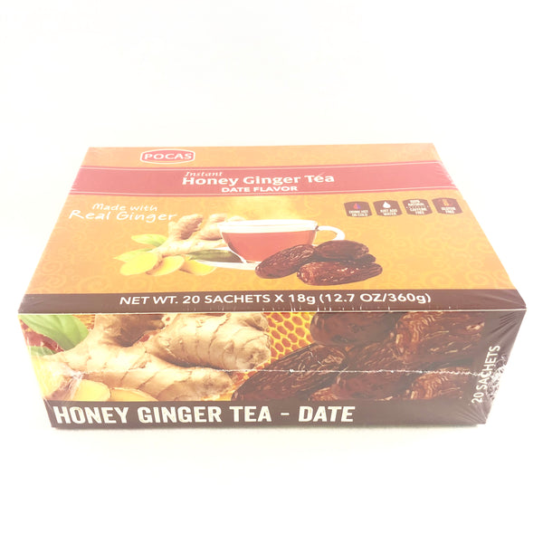 Instant Honey Ginger Tea - Date Flavor