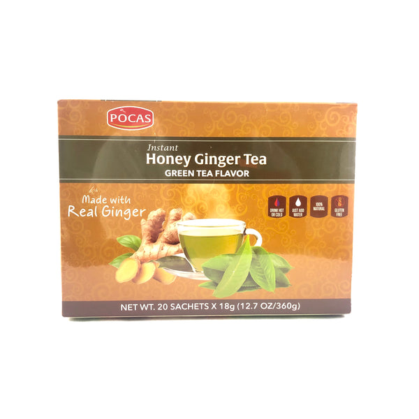 Instant Honey Ginger Tea - Green Tea Flavor