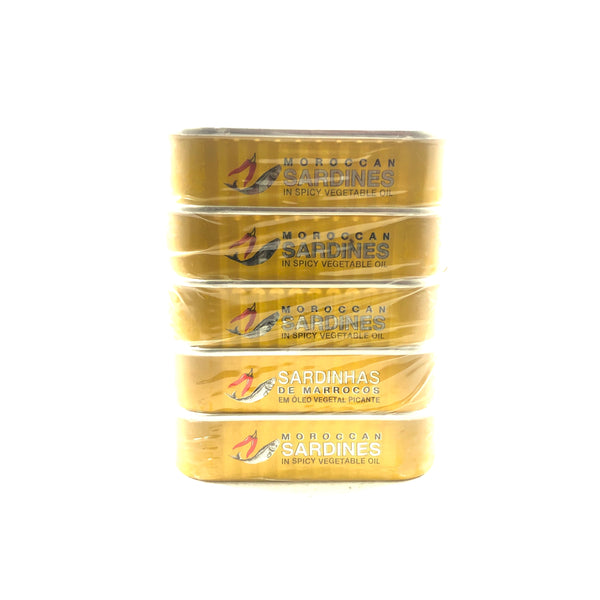 Hot Safi Sardines in Spicy Vegetable Oil - 5 Packs