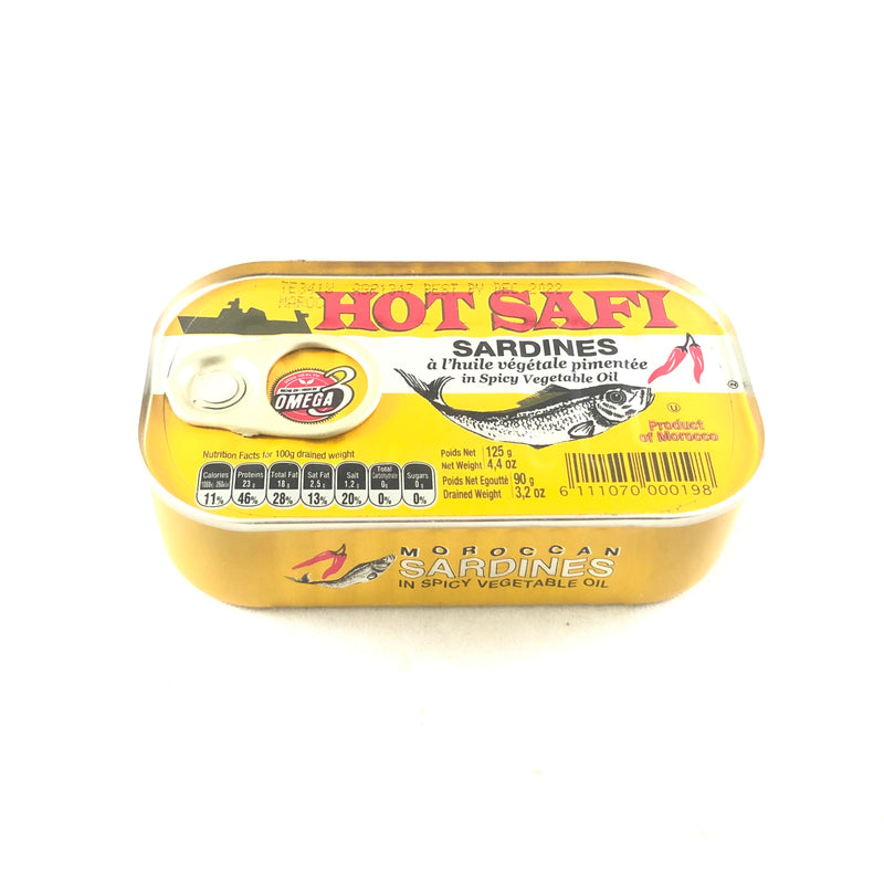 Hot Safi Sardines in Spicy Vegetable Oil