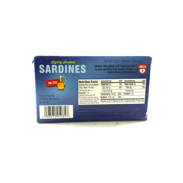 La Sirena Lightly Smoked Sardines in Oil