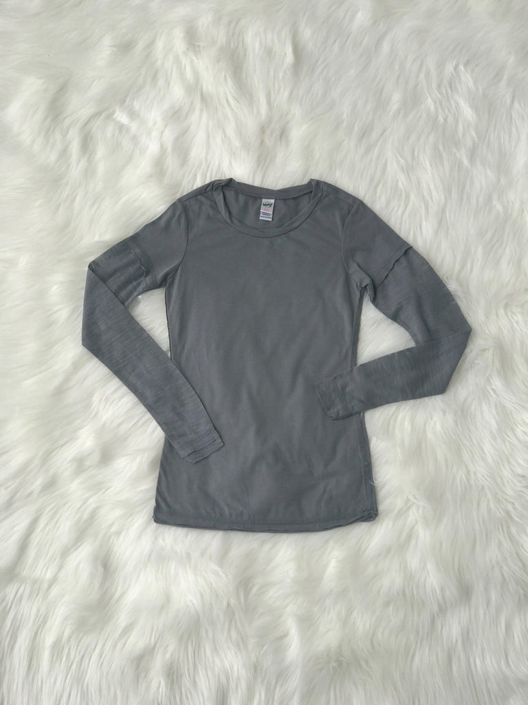 Raw Edge Burnout Long Sleeve Black