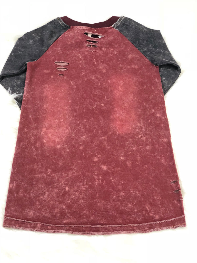 Distressed Acid Wash Dress
