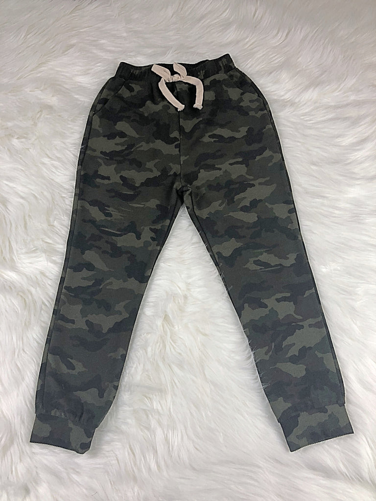 Distress Camo French Terry Jogger