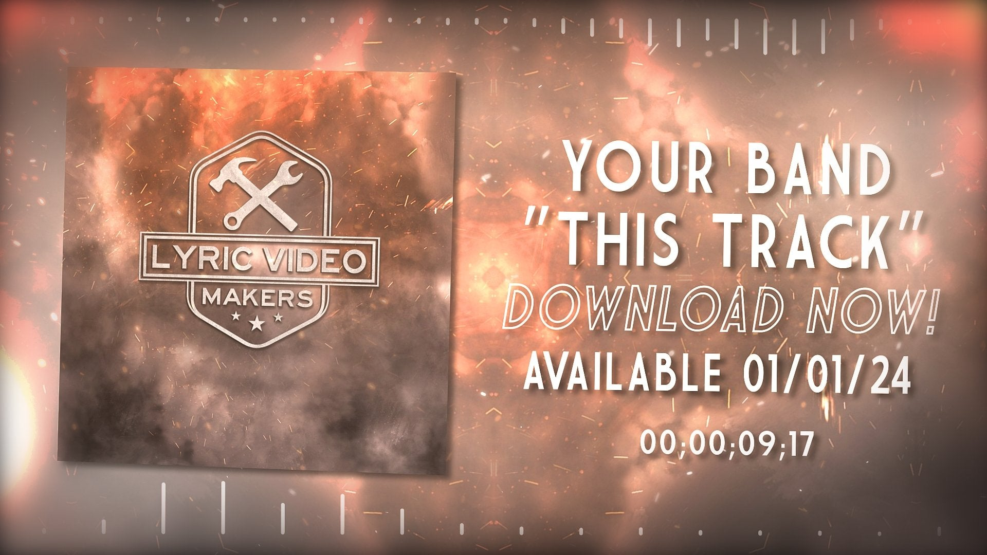 #011 Alternative Crash - Nu Metal Visualizer Template for After Effects - lyric-video-shop