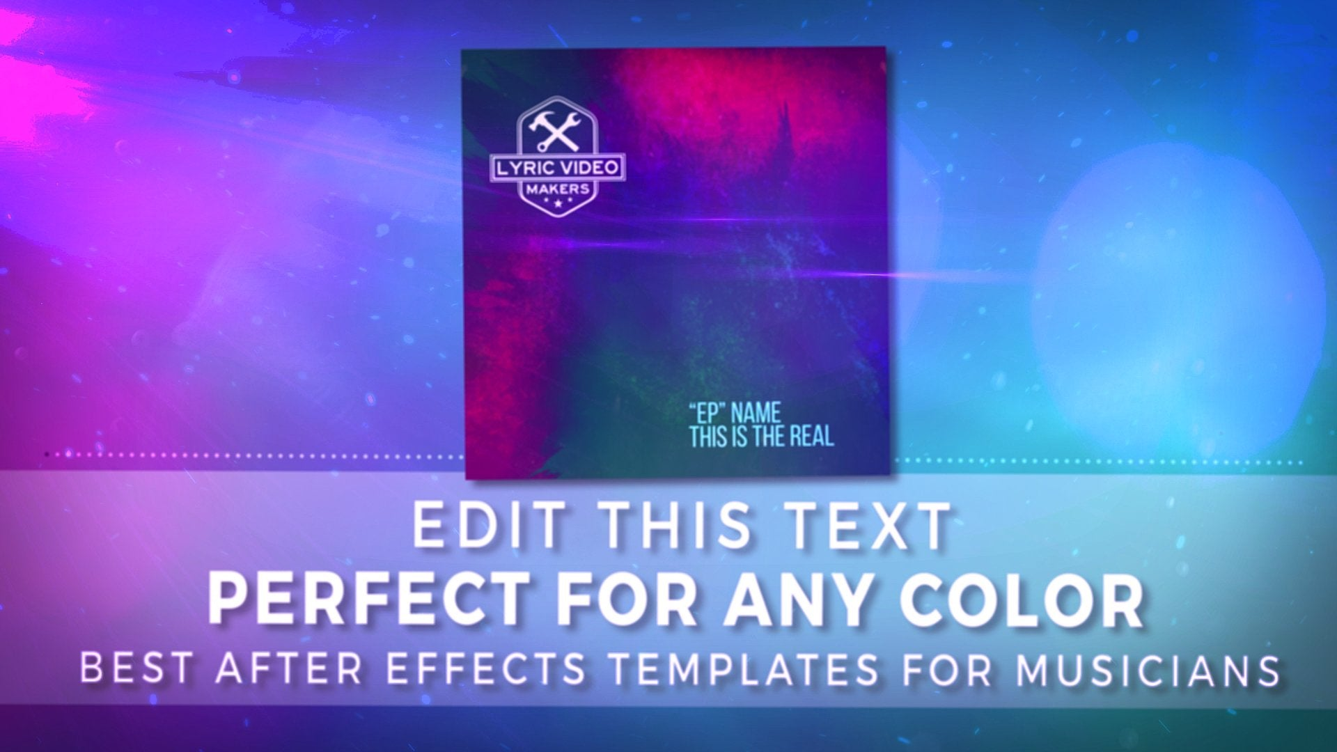 #012 Lost Crosses - Melodic Hardcore Visualizer Template for After Effects - lyric-video-shop