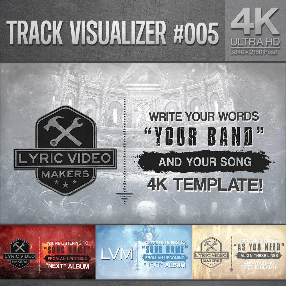 4K Streamer Visualizer for Metal / Metalcore Bands -  Professional After Effects Template (#005) - lyric-video-shop