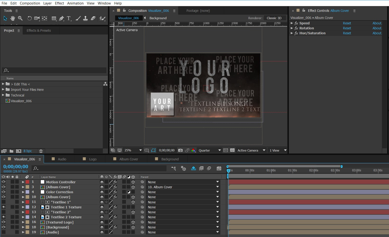 #006 Bandlogo Under Fire  – Premium Audio Visualizer Template for After Effects - lyric-video-shop