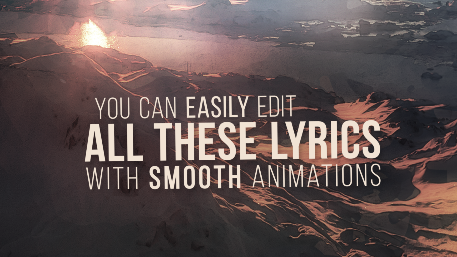 Animated LYRIC VIDEO Template V2 for After Effects