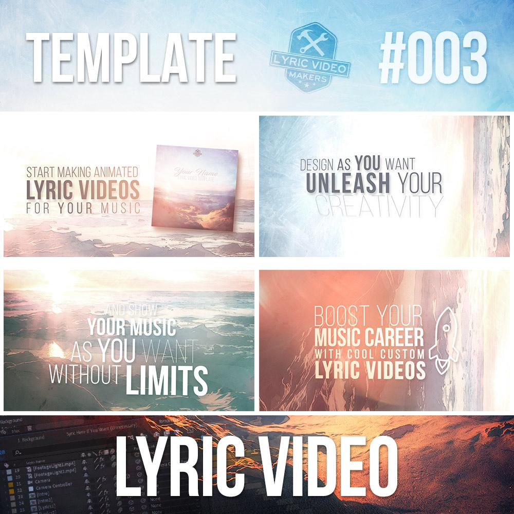 Animated LYRIC VIDEO Template V2 for After Effects - Lyric Video Shop
