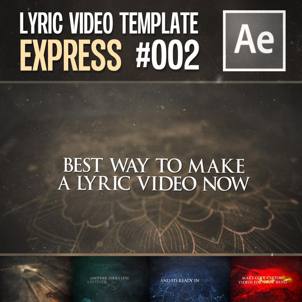 Express Lyric Video Template 002 - After Effects (Automated) | Metal Edition - Lyric Video Shop