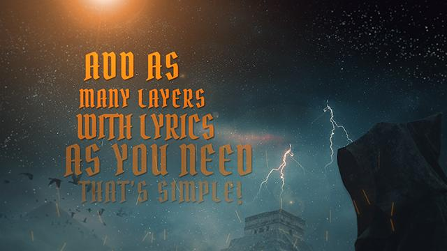 Fast'n'Simple LYRIC VIDEO Template #004 for After Effects - Lyric Video Shop