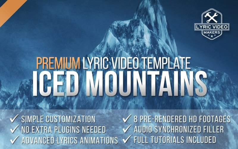 Iced Mountains - Lyric Video Template - lyric-video-shop