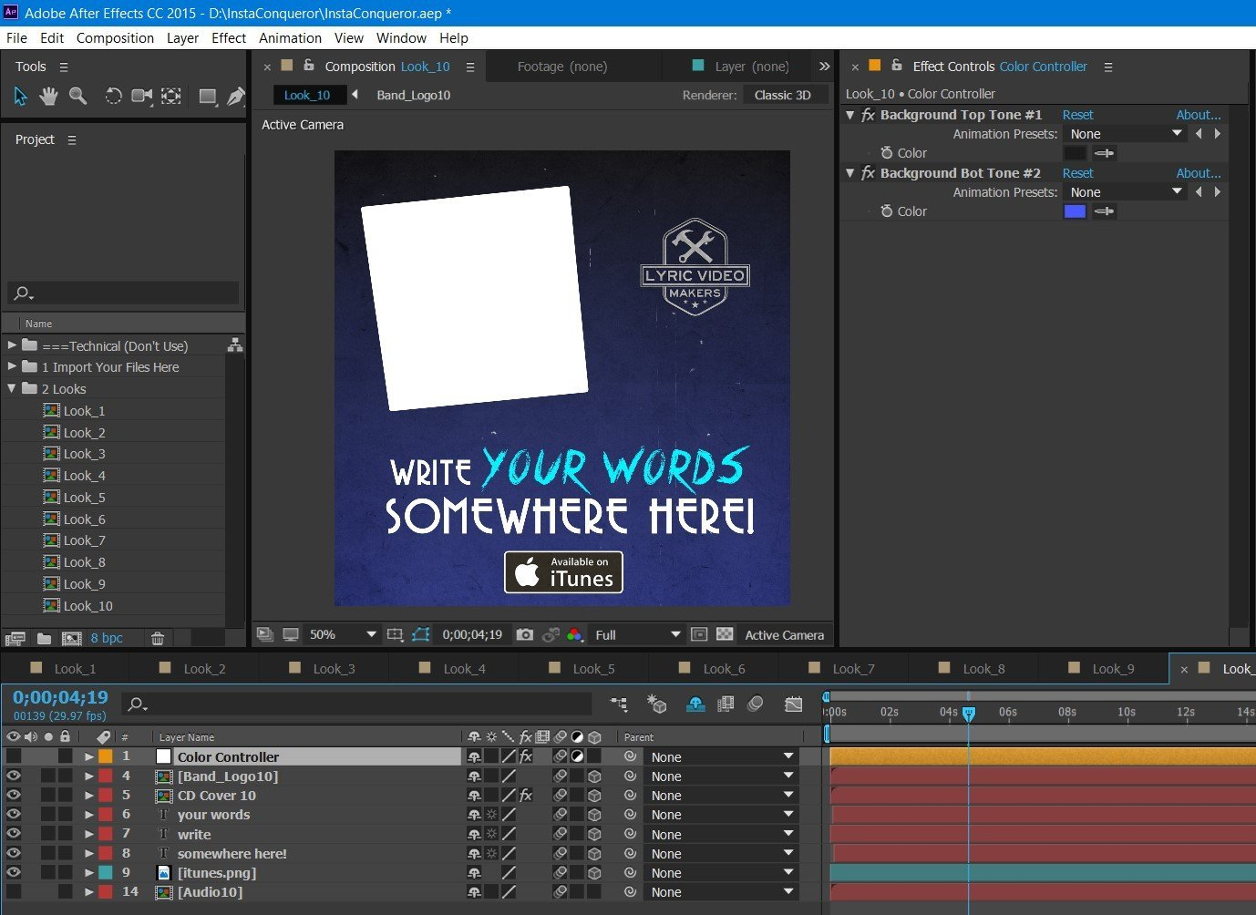 Instagram Conqueror – 10 Templates Pack (Premium After Effects Project) - lyric-video-shop
