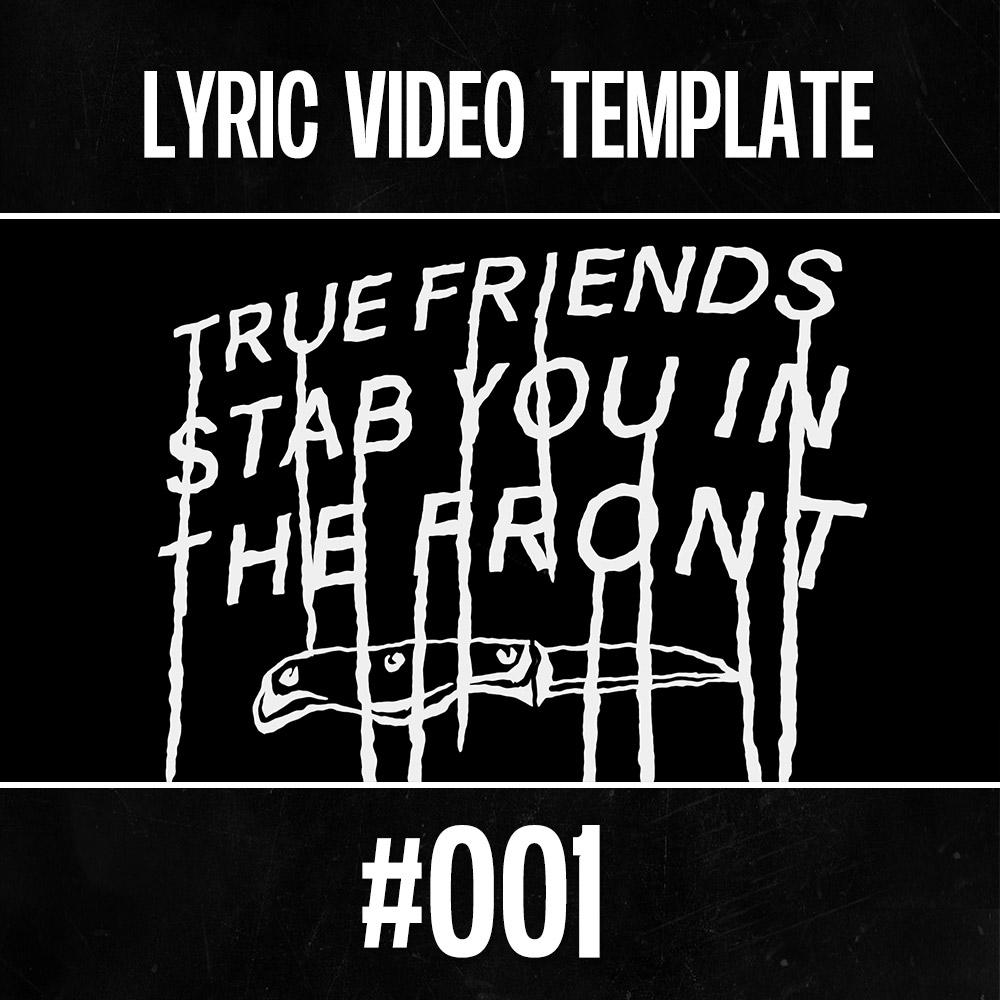 True Templates  – Lyric Video Template 001 for After Effects - lyric-video-shop