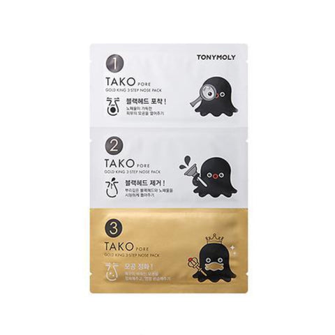 TAKO PORE Gold King 3 Step Nose Pack