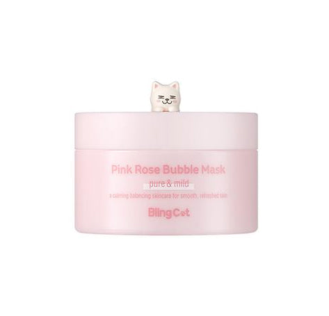 BLING CAT Pink Rose Bubble Mask