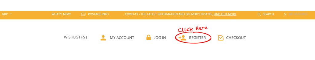 Click two - register for an account