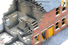 Destroyed Terrace House Block (28mm)