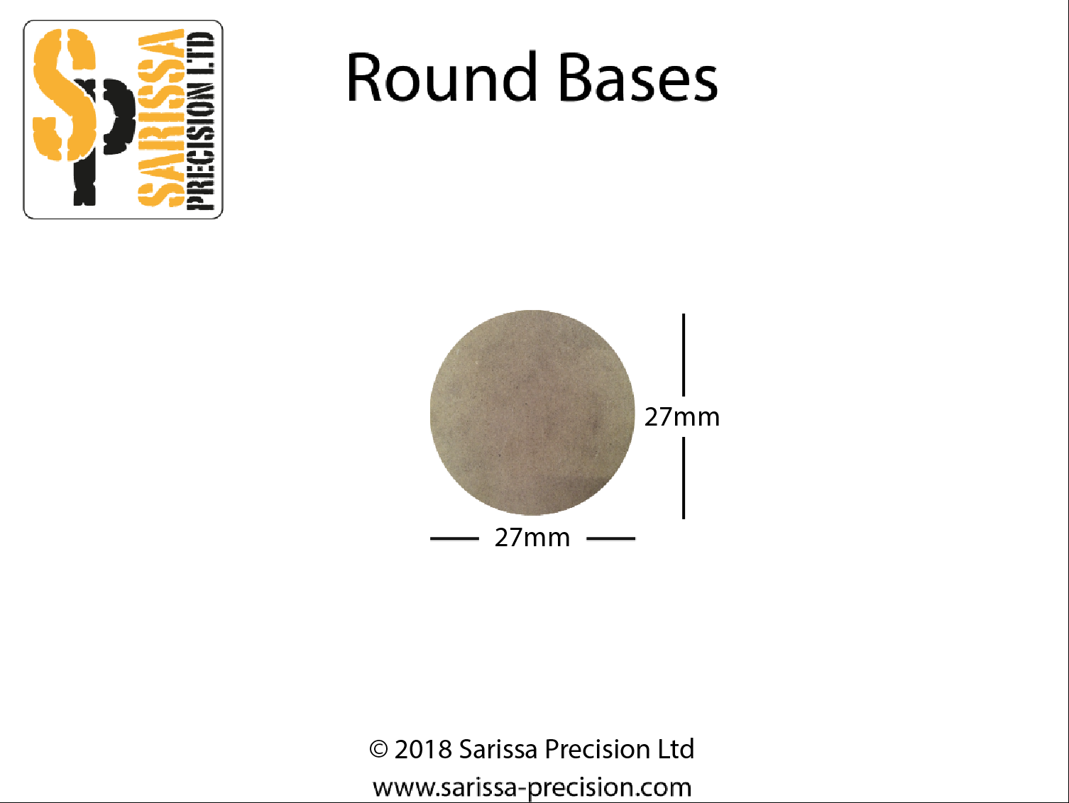 27mm Round Base Pack (x 27)