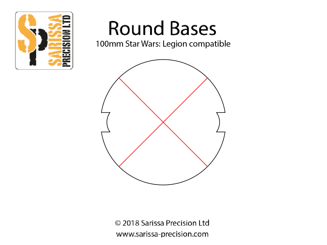 100mm Round Base Pack with Cutouts (x 2)