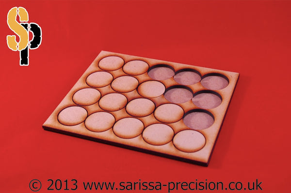 6x1 Conversion Tray for 40mm round bases