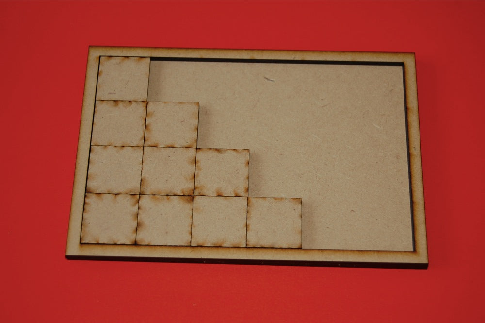 10 x 2 Cavalry Tray for 25 x 50mm Bases