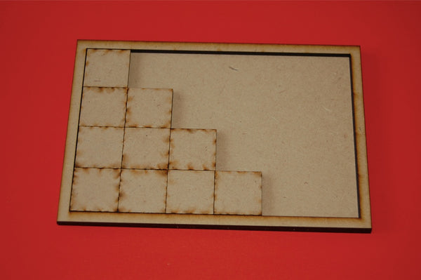 3x1 Monstrous Cavalry Tray for 50x75mm bases
