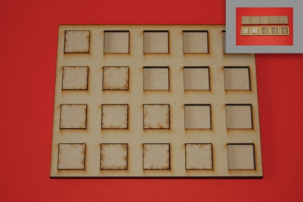 10x1 Skirmish Tray for 20x20mm bases