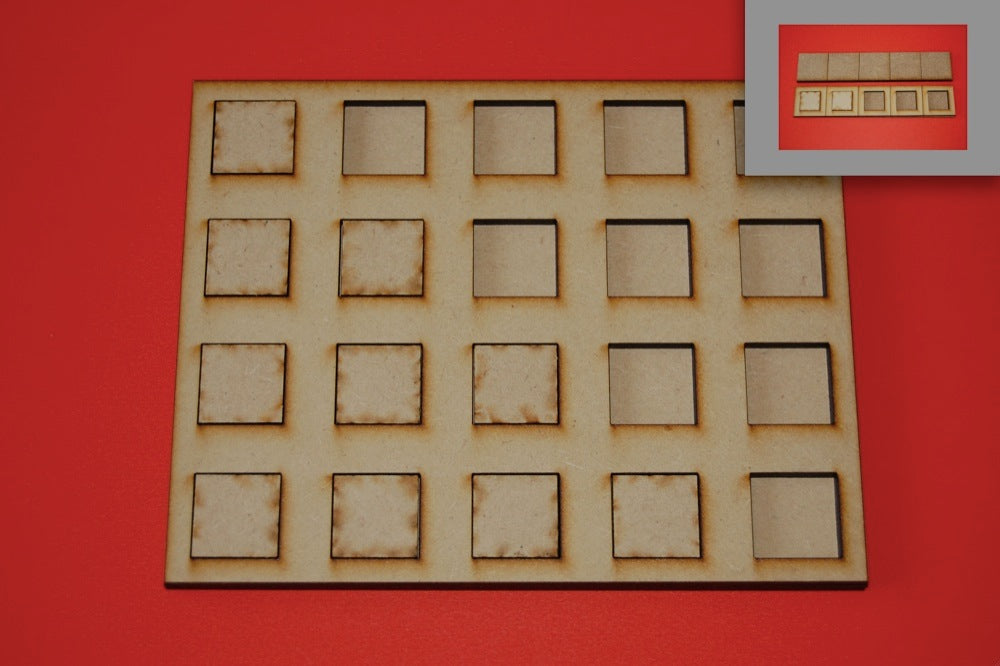 1x1 Skirmish Tray for 25x25mm bases