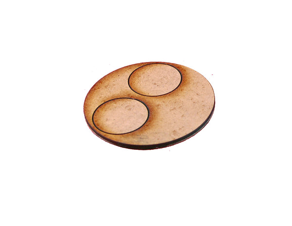 60mm Medium Gun Team Base for 25mm round bases