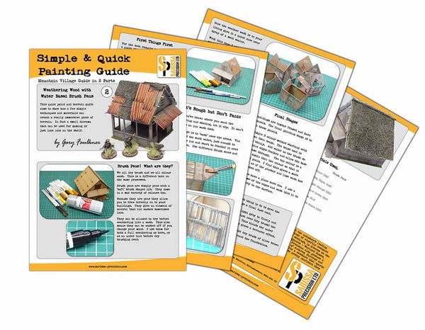 FREE: Mountain Village Guide part 2 of 2 - A Simple and Quick Painting Guide