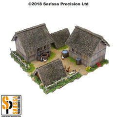 Mountain Village Hovel & Animal Shelter Set (28mm)
