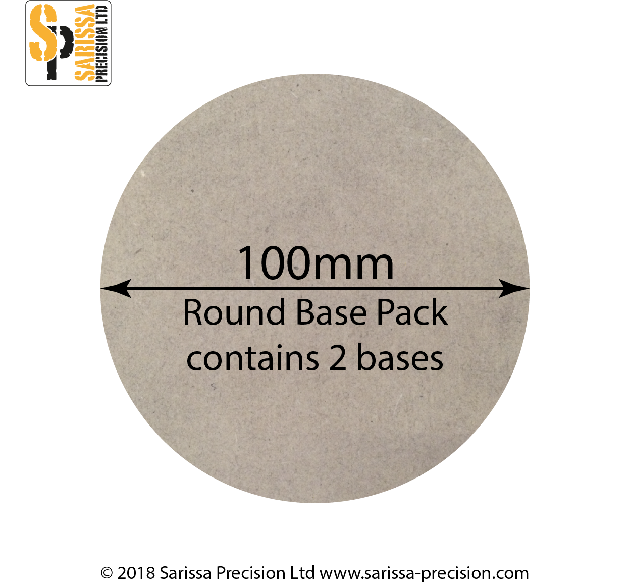 100mm Round Base Pack