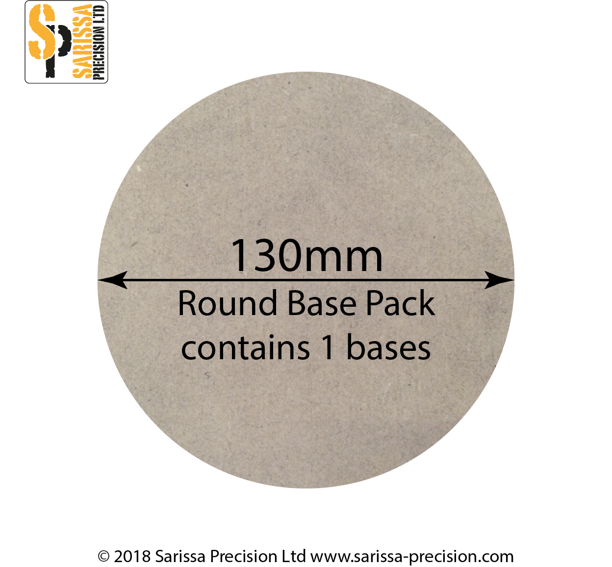 130mm Round Base Pack
