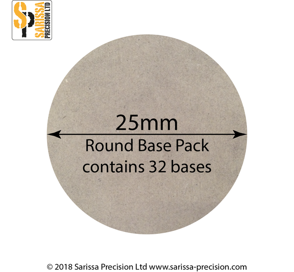 25mm Round Base Pack