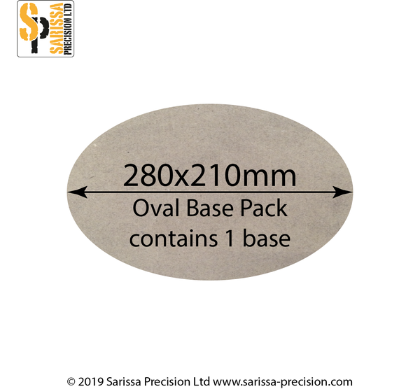 280x210mm Oval Base