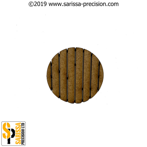 32mm Round Planked Base Pack