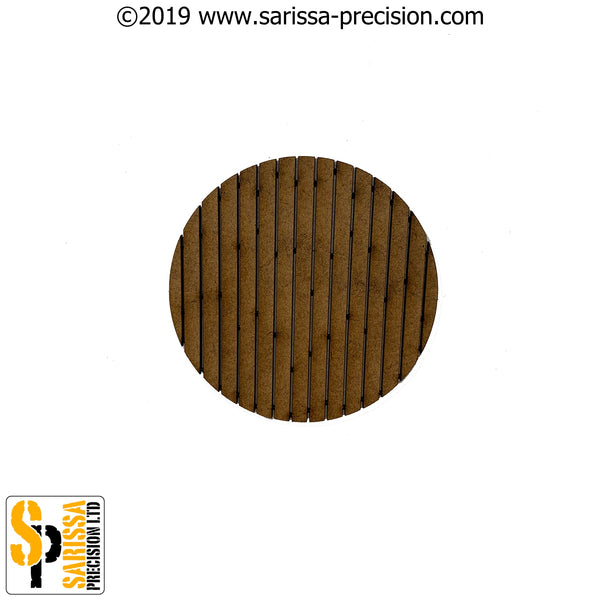 60mm Round Planked Base Pack