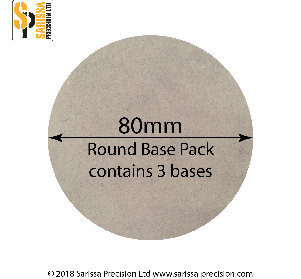 80mm Round Base Pack