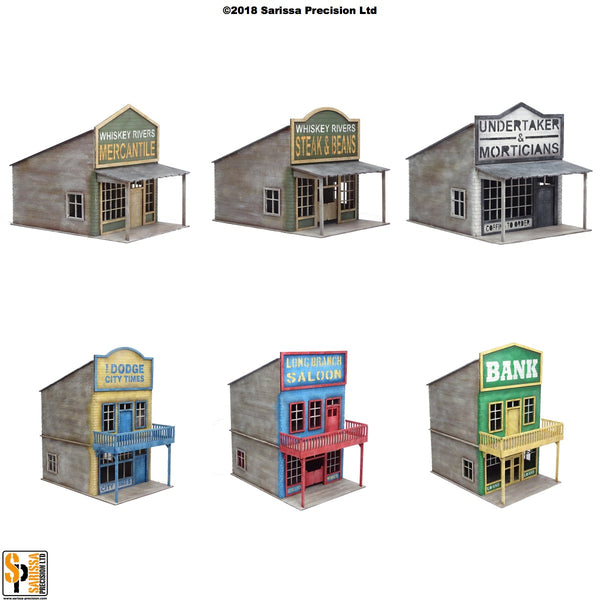 Old West Town Scenery Set - 40mm