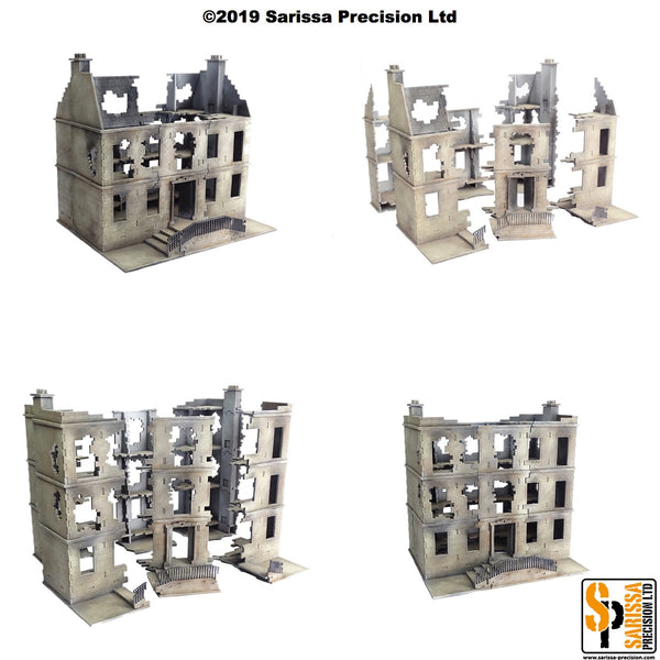 European Destroyed Townhouse Scenery Set (28mm)