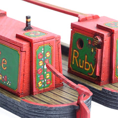 Narrowboat & Buttyboat Set - 28mm