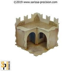 Desert Fort Corner Walls (28mm)