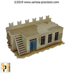 Desert Fort Straight Wall (28mm)