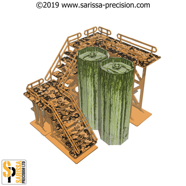 Silo/Gantry Scenery Set (28mm)