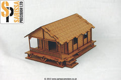 Low Woven Palm-Style Village House - 15mm