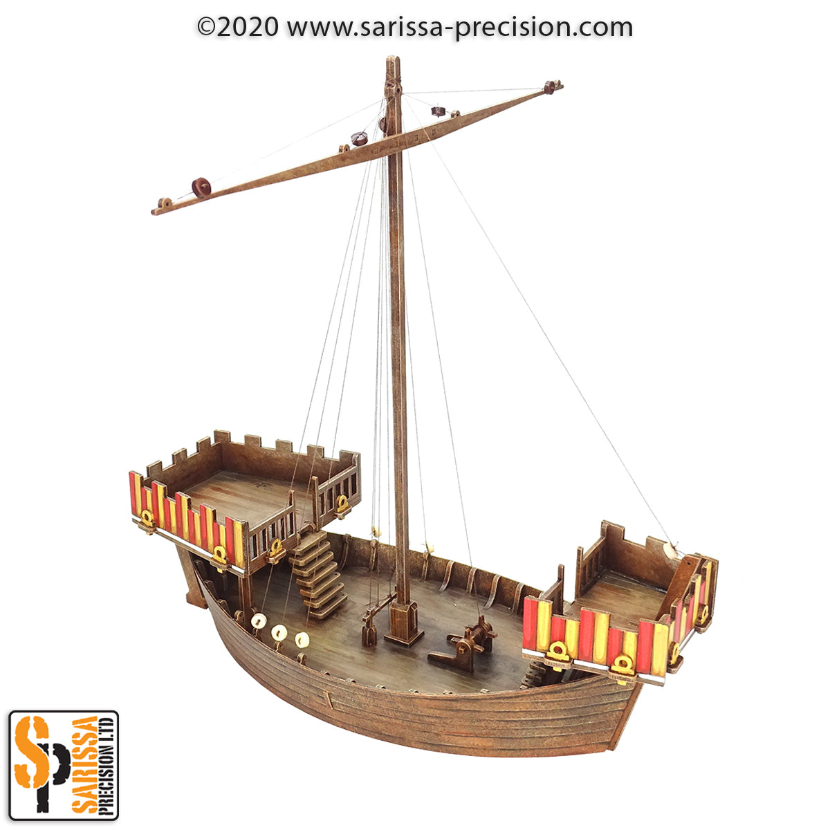 Medieval Cog Sailing Ship (28mm)