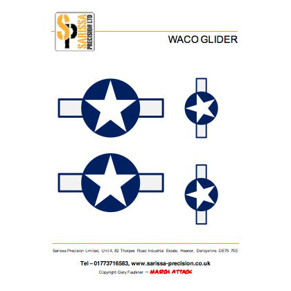 WACO Glider Decal Sheet