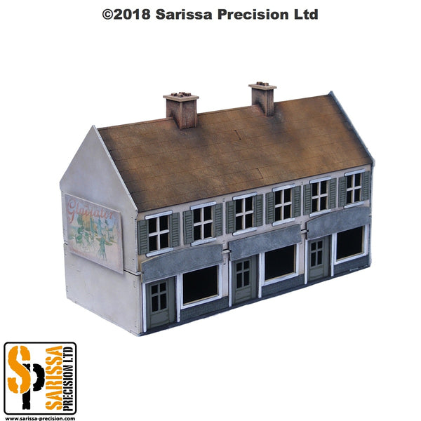 Terrace Shop Block - 28mm